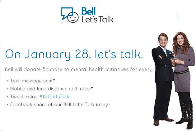 Bell Let's Talk advertising campaign