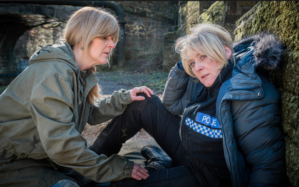 Siobhan Finneran as Clare Cartwright and Sarah Lancashire as Catherine Cawood, Happy Valley. © Red Production Co, BBC, 2014