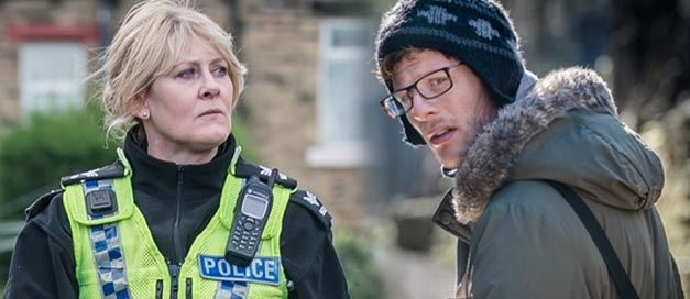 Sarah Lancashire as Catherine Cawood and James Norton as Tommy Lee Royce in Happy Valley. © Red Production Co., BBC, 2014